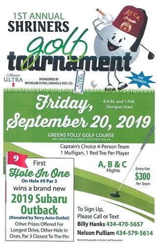 Shriners Golf Tournament