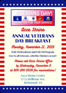 Annual Veterans Day Breakfast