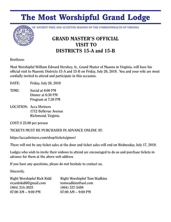 Grand Master's Visit