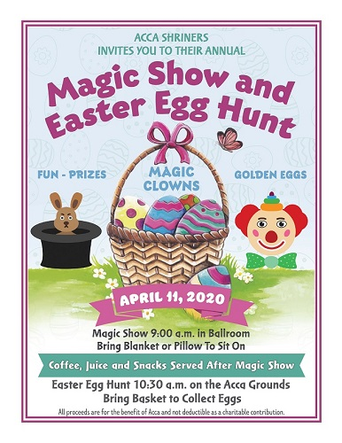 Annual Magic Show and Easter Egg Hunt
